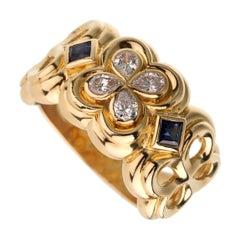 Dior Sapphire Diamond Yellow Gold Cocktail Ring
