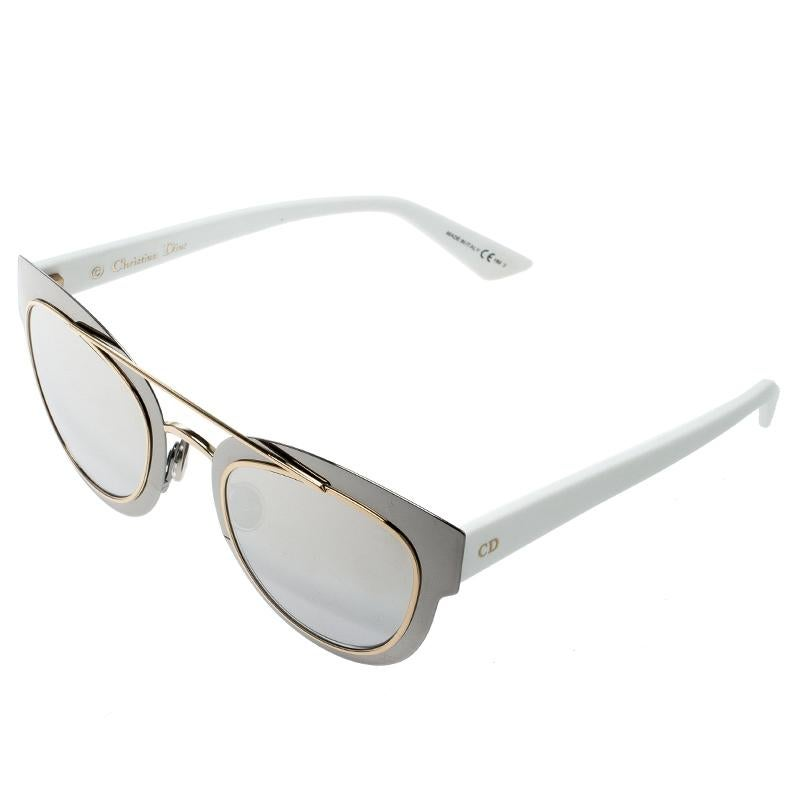 fed6d71b42 Dior Silver Brown Gradient Mirrored LMJ96 Chromic Sunglasses For Sale at  1stdibs