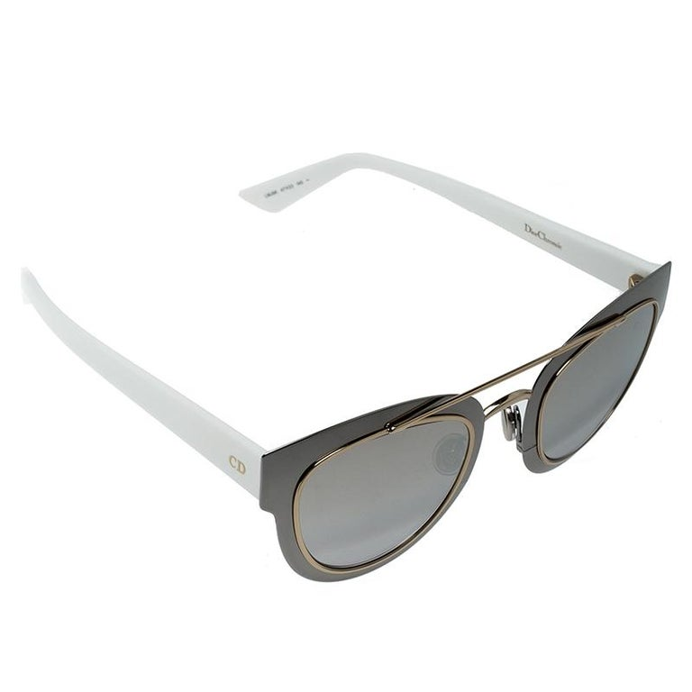 9f472a2c33 Dior Silver Brown Gradient Mirrored LMJ96 Chromic Sunglasses For Sale