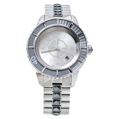 Dior Silver Grey Crystal Stainless Steel CD113116 Women's Wristwatch 33MM