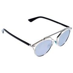 Dior Silver Mirror Dior So Real Round Sunglasses