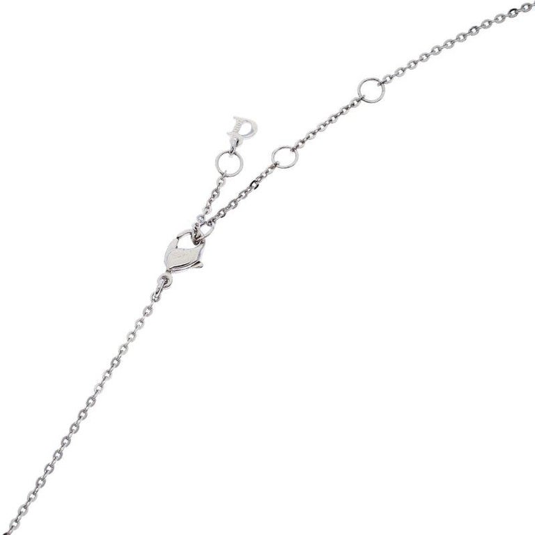 Women's Dior Silver Tone Crystal Embellished Layered Floral Bow Necklace For Sale