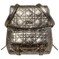 Dior Stardust Silver Leather Backpack