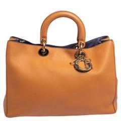 Dior Tan Leather Large Diorissimo Shopper Tote