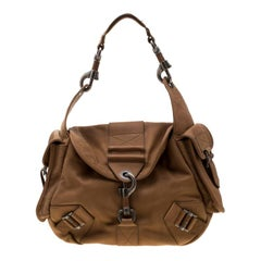 Dior Tan Leather Rebelle Hobo