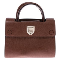 Dior Tan Pebbled Leather Mini Diorever Tote