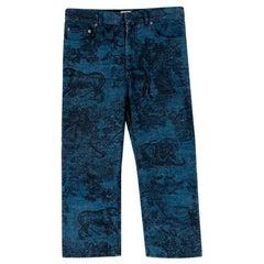 Dior Toile de Jouy Blue Jeans - Size US 4