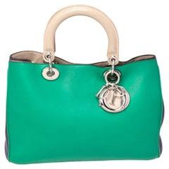 Dior Tri Color Leather Medium Diorissimo Shopper Tote