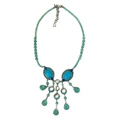 DIOR Turquoise Necklace And Ring Set
