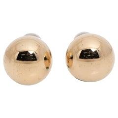 Dior Two Tone Mise En Dior Tribales Stud Earrings