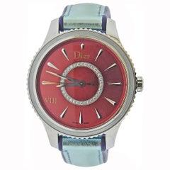 Dior VIII Red Dial Diamond Watch CD152110A004