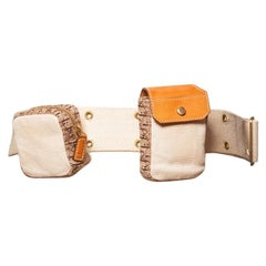 Dior Vintage Beige Street Chic Military Belt Bag 2002