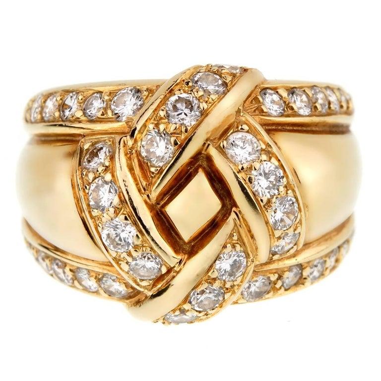 Dior Vintage Diamond Gold Cocktail Ring