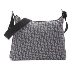 Dior Vintage Trotter Shoulder Bag Navy