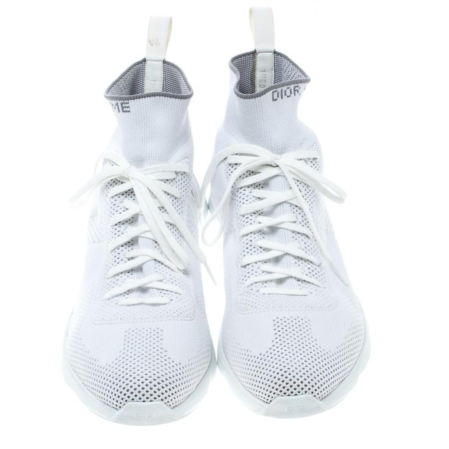 71a05dc4 Dior White/ Grey Knit B21 Socks High Top Sneakers Size 42