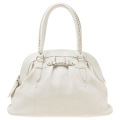 Dior White Leather My Dior Frame Satchel