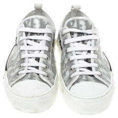 Dior White Oblique Mesh B23 Low Top Sneakers Size 38