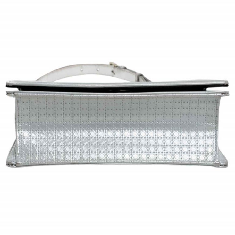 Dior White Patent Leather Small Diorama Flap Shoulder Bag For Sale 1