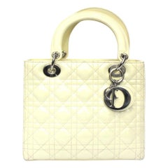 Dior White Vernice Lady Bag