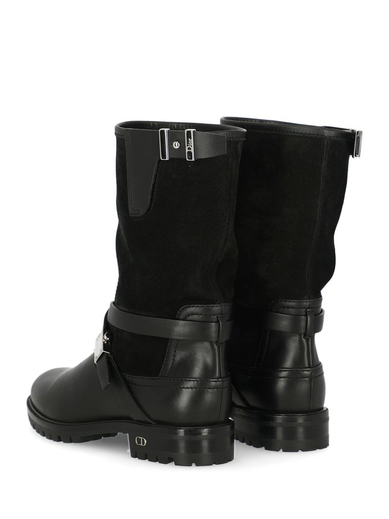 Dior Woman Ankle boots Black Leather IT 35.5 In Excellent Condition For Sale In Milan, IT