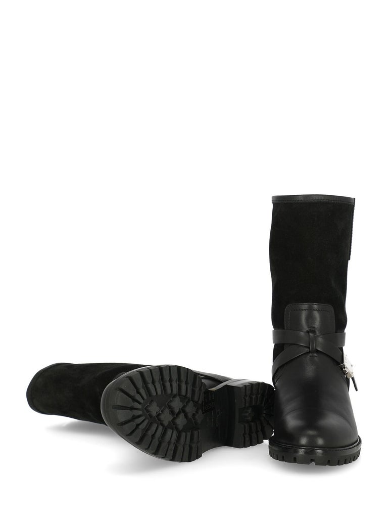 Women's Dior Woman Ankle boots Black Leather IT 35.5 For Sale