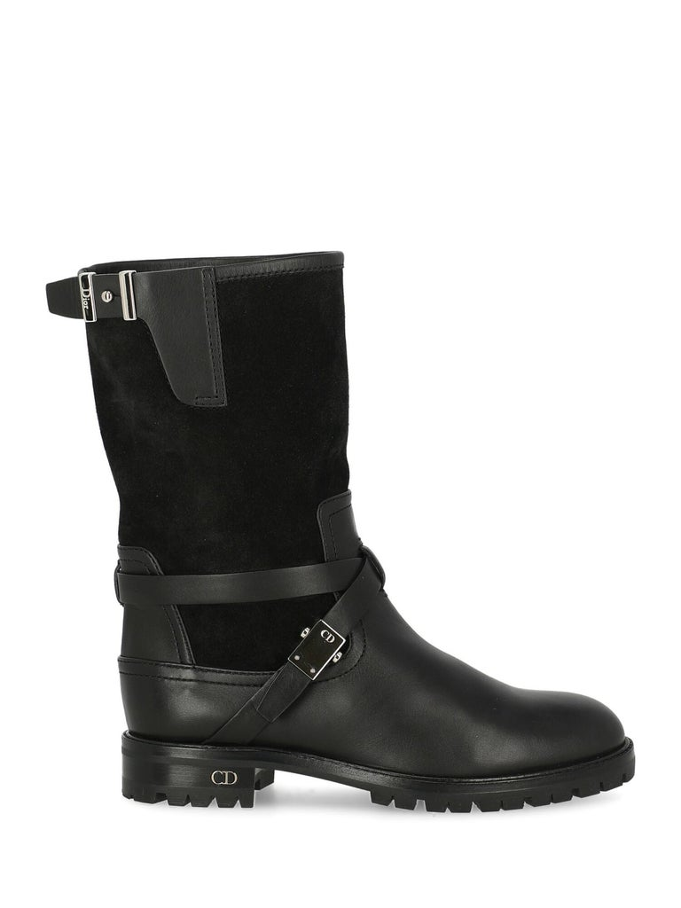 Dior Woman Ankle boots Black Leather IT 35.5 For Sale 1