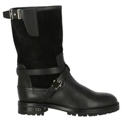 Dior Woman Ankle boots Black Leather IT 35.5