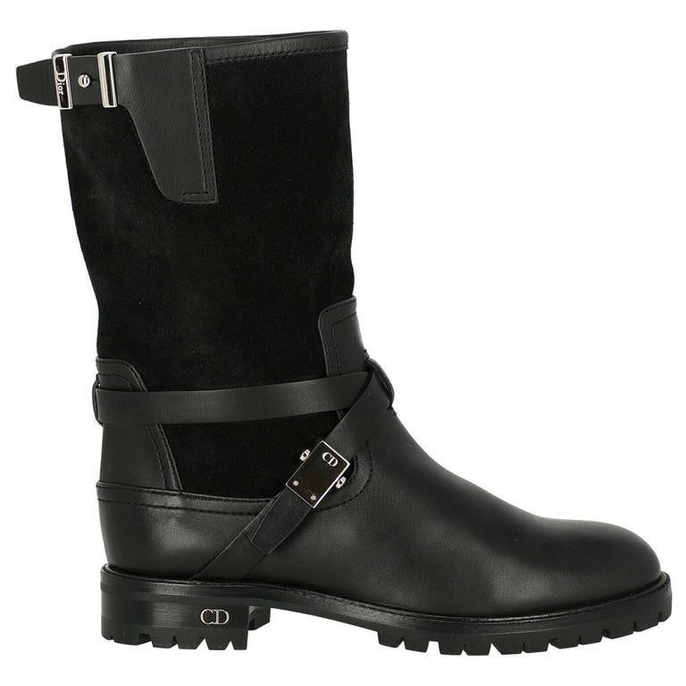 Dior Woman Ankle boots Black Leather IT 35.5 For Sale