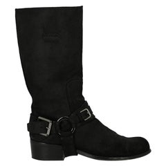 Dior Woman Ankle boots Black Leather IT 38