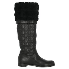 Dior Woman Boots Black Leather IT 36