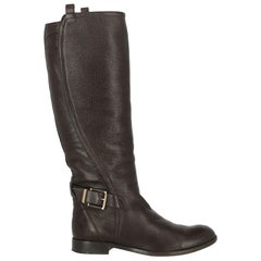 Dior Woman Boots Brown Leather IT 39