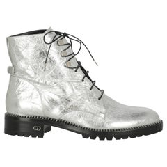 Dior Women  Ankle boots Silver Leather IT 39
