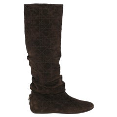 Dior Women  Boots Brown Leather IT 37