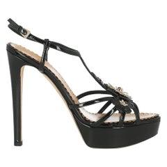 Dior Women  Sandals Black Leather IT 41