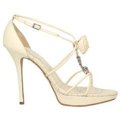 Dior Women  Sandals Ecru Leather IT 41