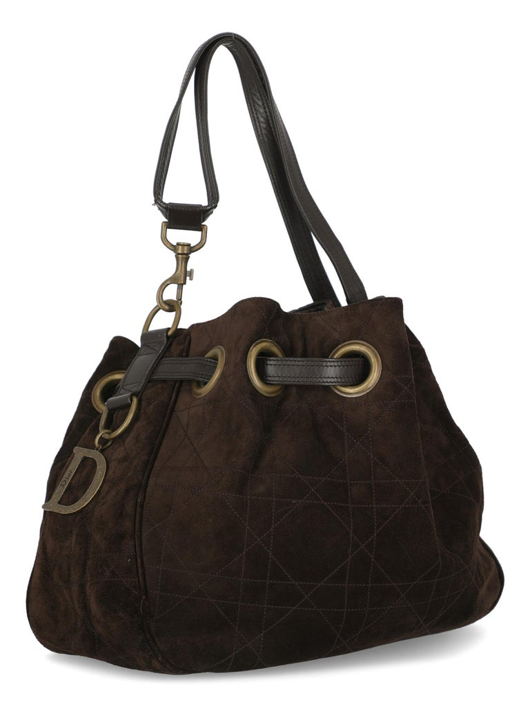 Black Dior Women  Shoulder bags Brown Leather For Sale
