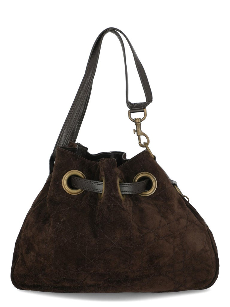 Dior Women  Shoulder bags Brown Leather In Good Condition For Sale In Milan, IT