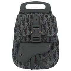 Dior Women's Backpack Saddle Blue/Navy Cotton