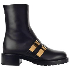 Dior Women's Black Leather D-Race Ankle Boots
