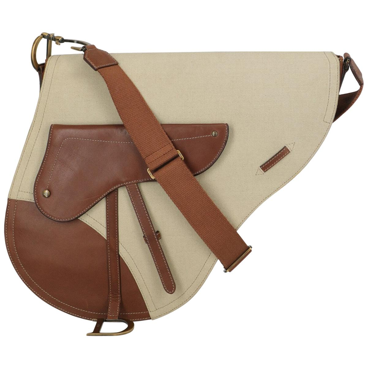 Dior Women's Crossbody Bag Saddle Beige/Brown Leather