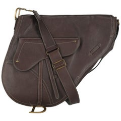 Dior Women's Crossbody Bag Saddle Brown Leather