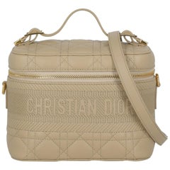 Dior Women's Handbag DiorTravel Beige Leather