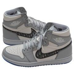 DIOR X Air Jordan Men's High Top Sneakers Size 10.5  44.5 EU  NEW 100% Authentic