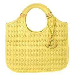 Dior Yellow Leather Diorita Hobo