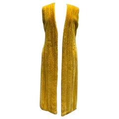 Dior Yellow Mink Fur vest