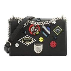 Diorama Flap Bag Patch Embellished Leather Medium