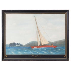 Diorama of a Sailboat on a Lake, Dated 1933