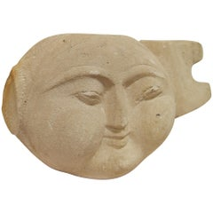 DIRACCA SCULPTURE - Hand-Carved Stone Head [SPAIN]