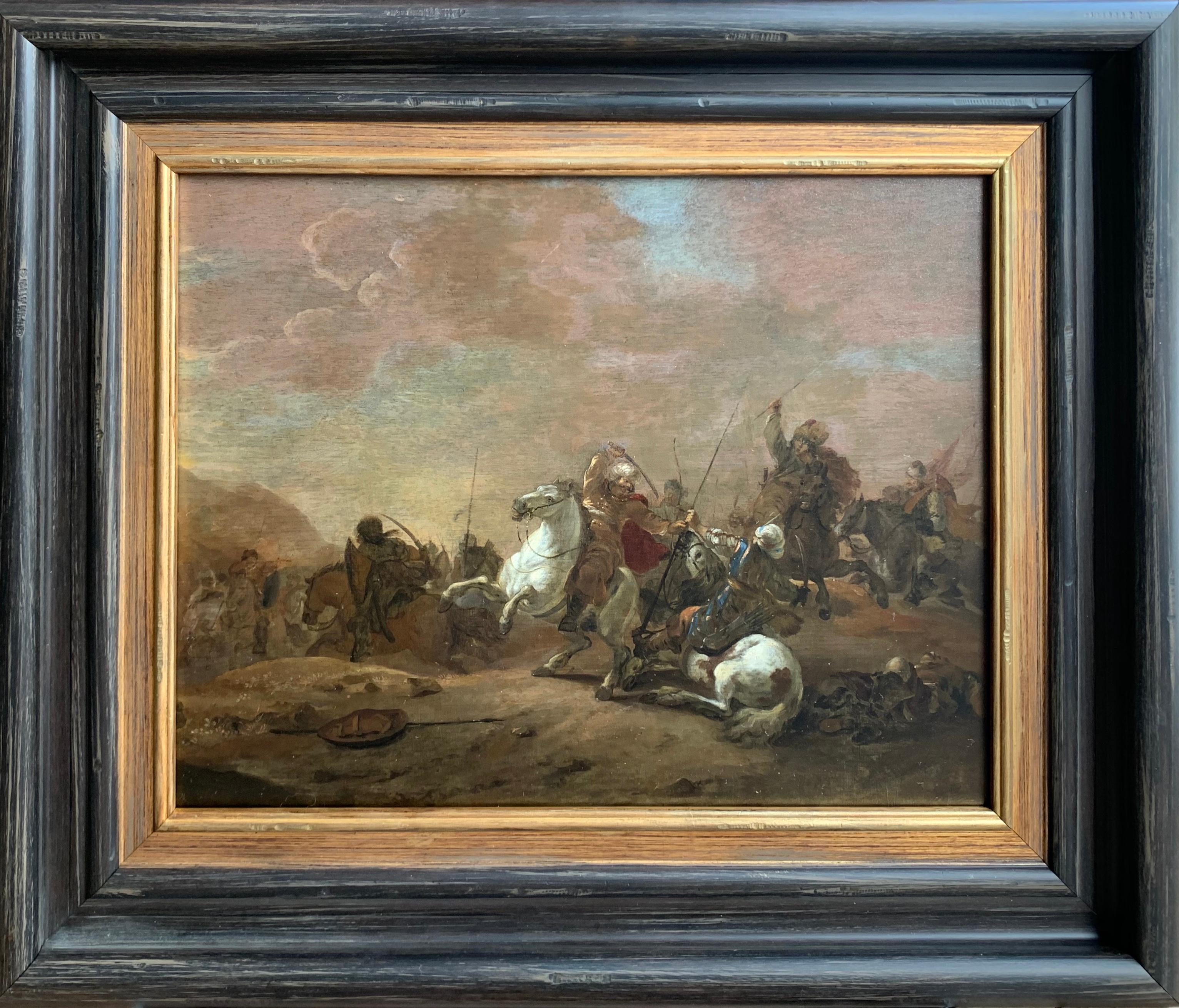 17th century orientalist battle - Orientalist Turkish Arabian Cavalry Skirmish