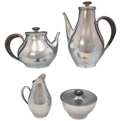 Directional by Gorham Sterling Silver Tea Set 4-Piece #1301 Modernism